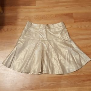 Banana republic heritage collection gold skirt